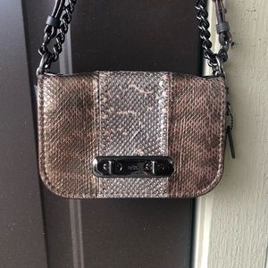 Coach Swagger Striped Snakeskin Bag